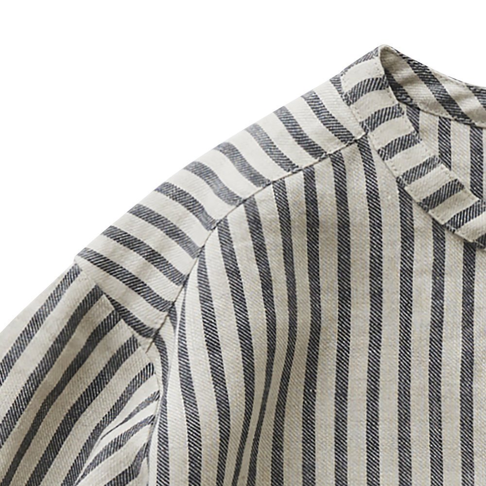 stripe linen shirts img1