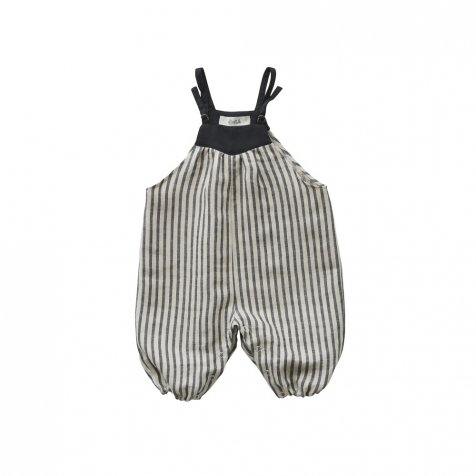 stripe linen rompers