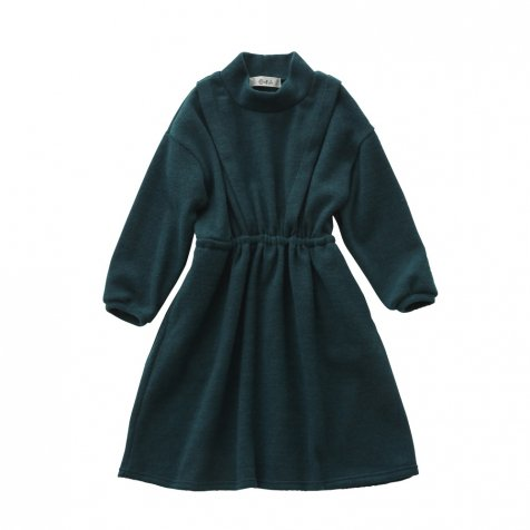 melange dress green