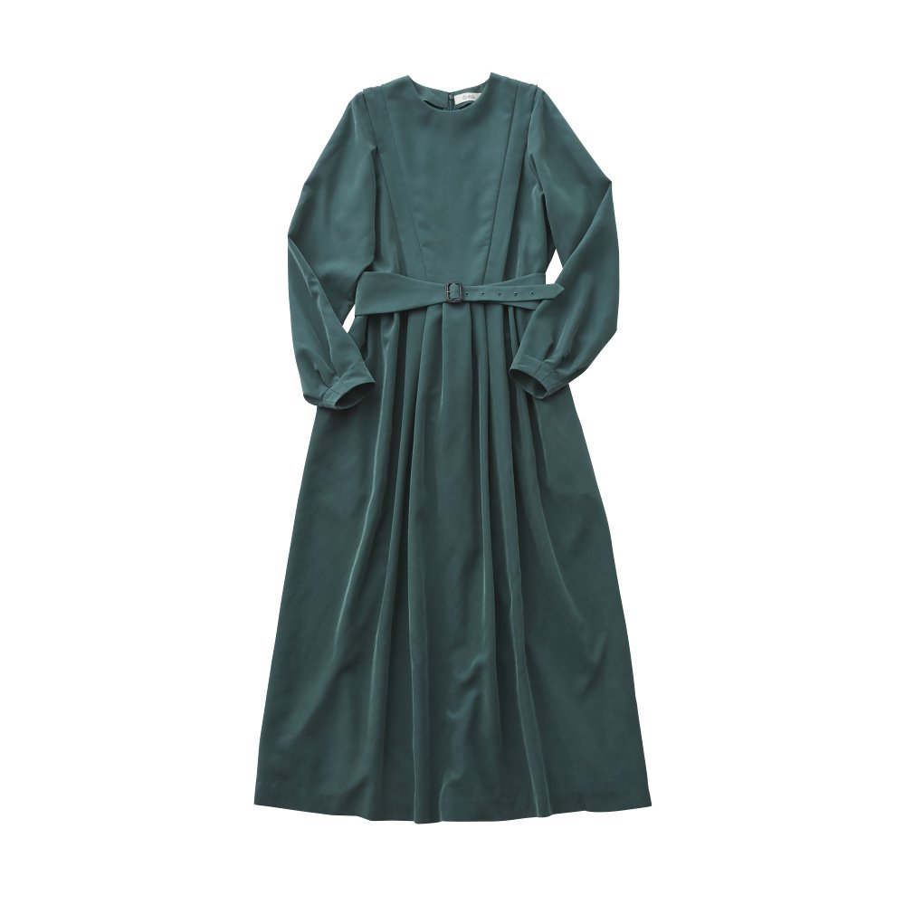 modal belted long dress green - adult img