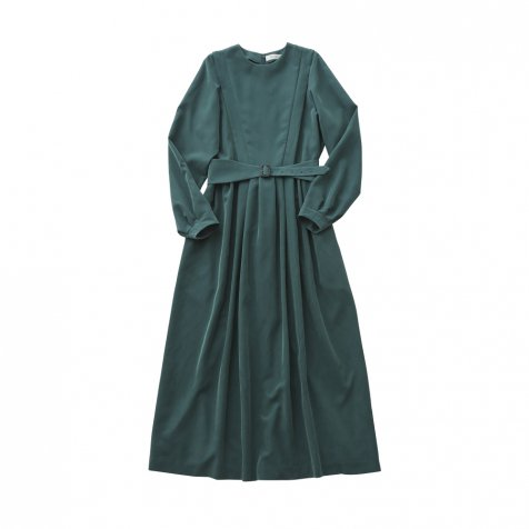 modal belted long dress green - adult