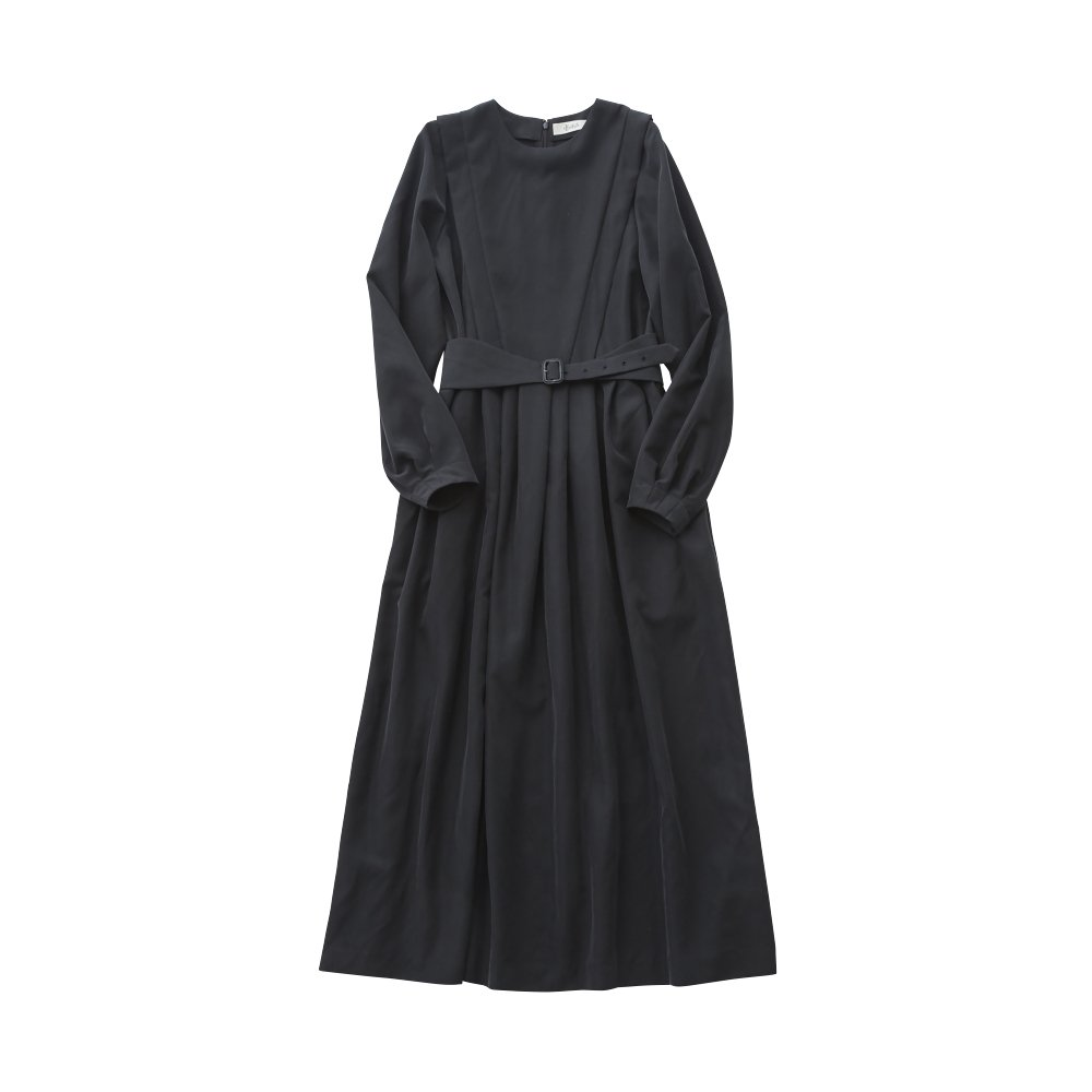 modal belted long dress black - adult img