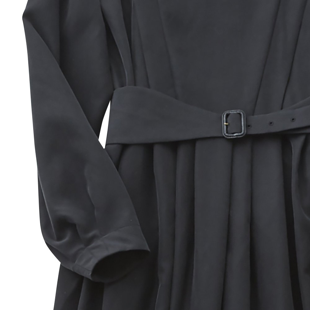 modal belted long dress black - adult img2