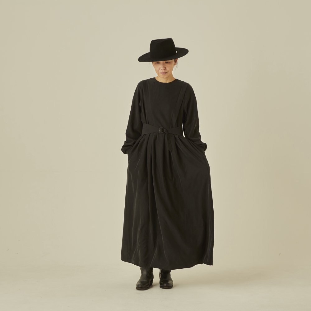 modal belted long dress black - adult img4