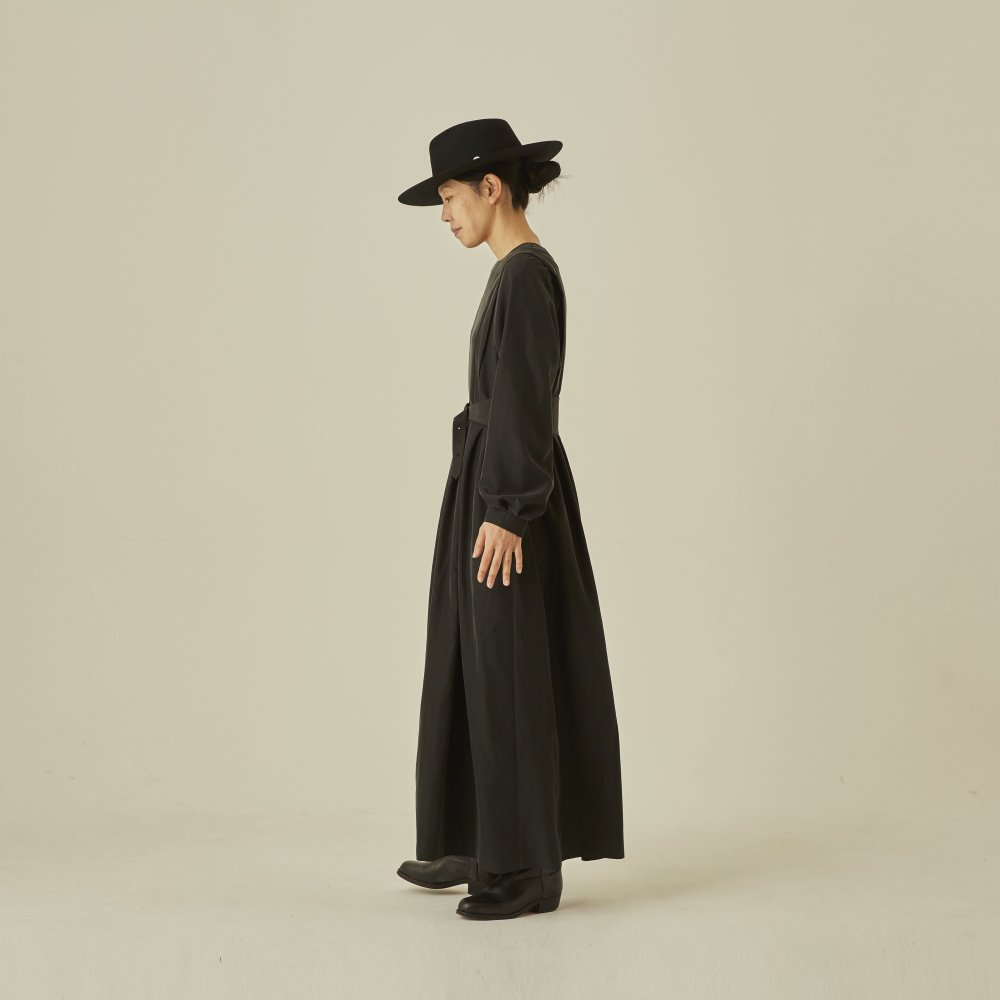 modal belted long dress black - adult img5