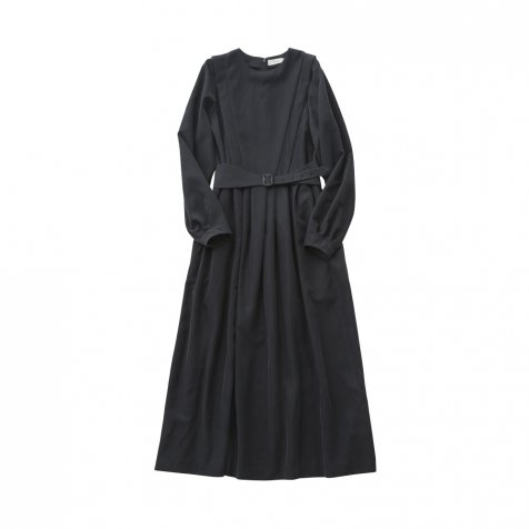 modal belted long dress black - adult
