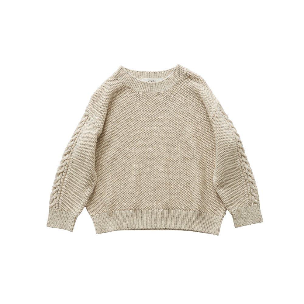 moss stitch sweater ivory - adult img