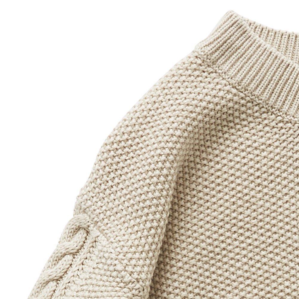 moss stitch sweater ivory - adult img1