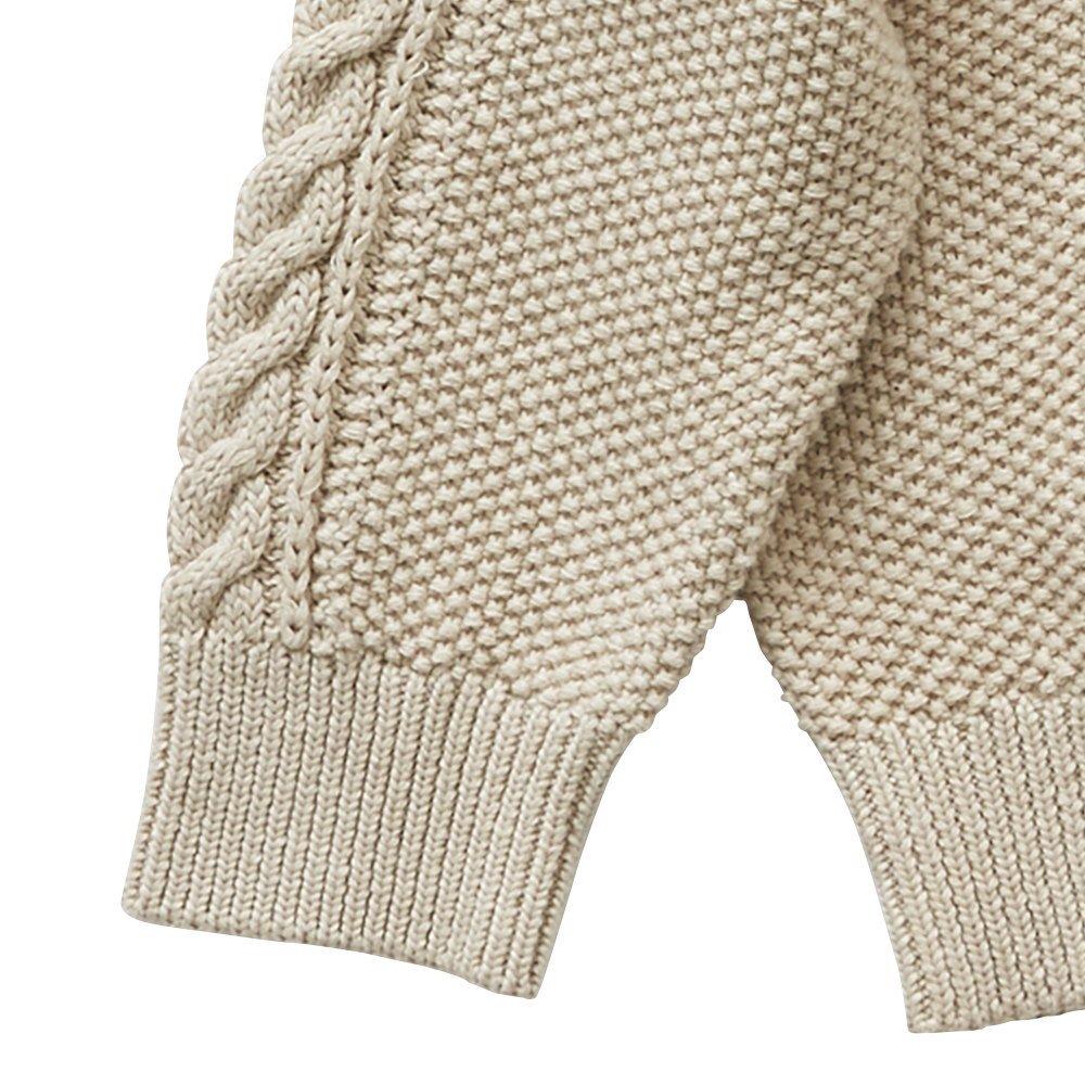 moss stitch sweater ivory - adult img2