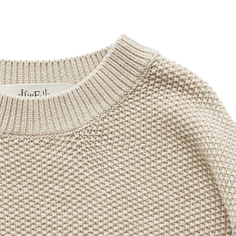 moss stitch sweater ivory - adult img3
