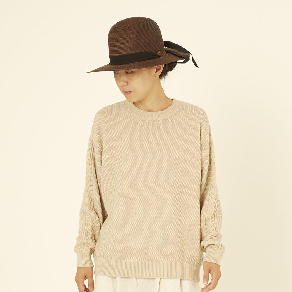 moss stitch sweater ivory - adult img4