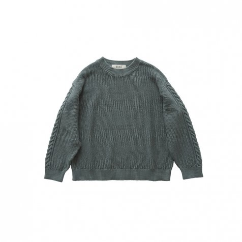moss stitch sweater sage green - adult