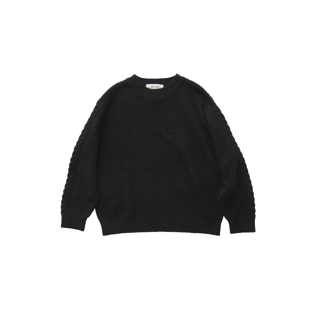 【再追加販売】moss stitch sweater black - adult img