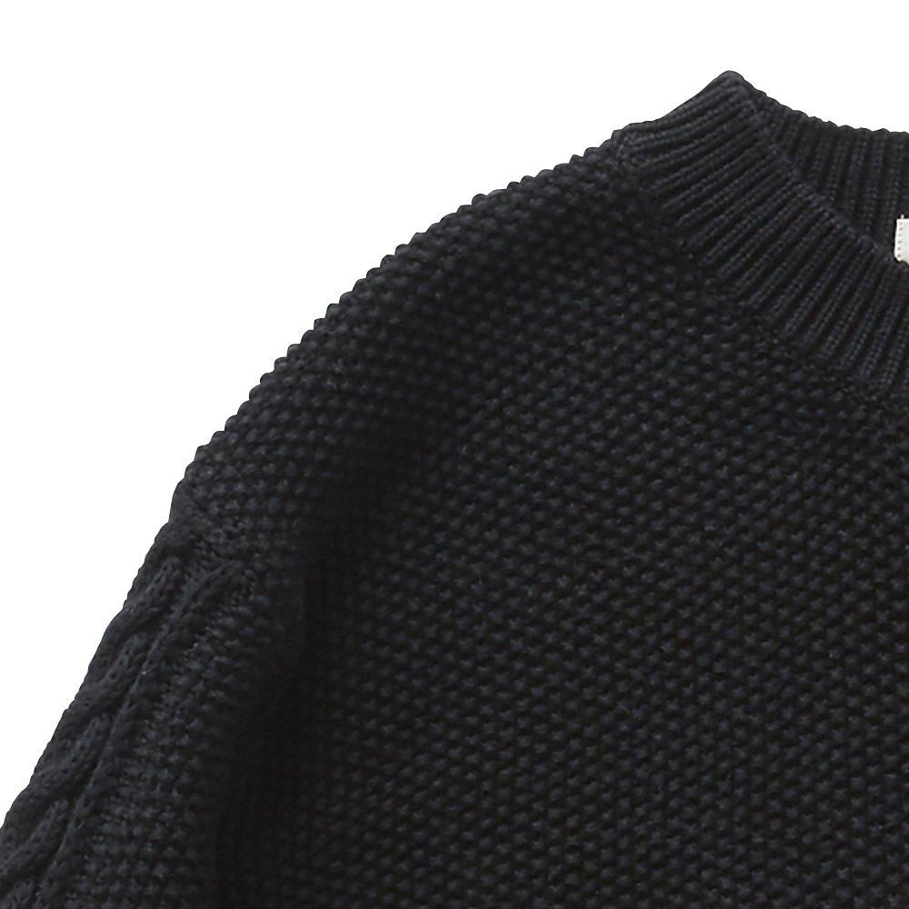 【再追加販売】moss stitch sweater black - adult img1