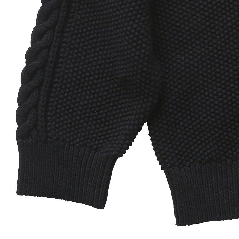 【再追加販売】moss stitch sweater black - adult img2