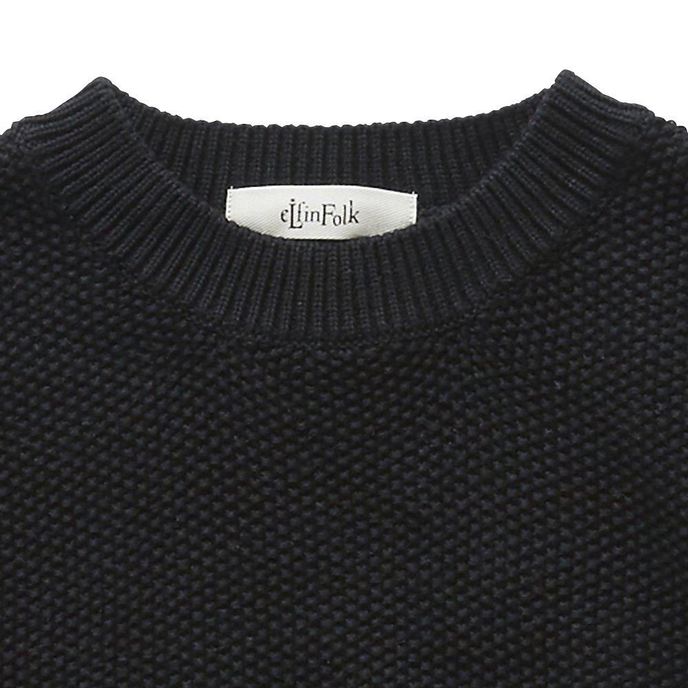 【再追加販売】moss stitch sweater black - adult img3