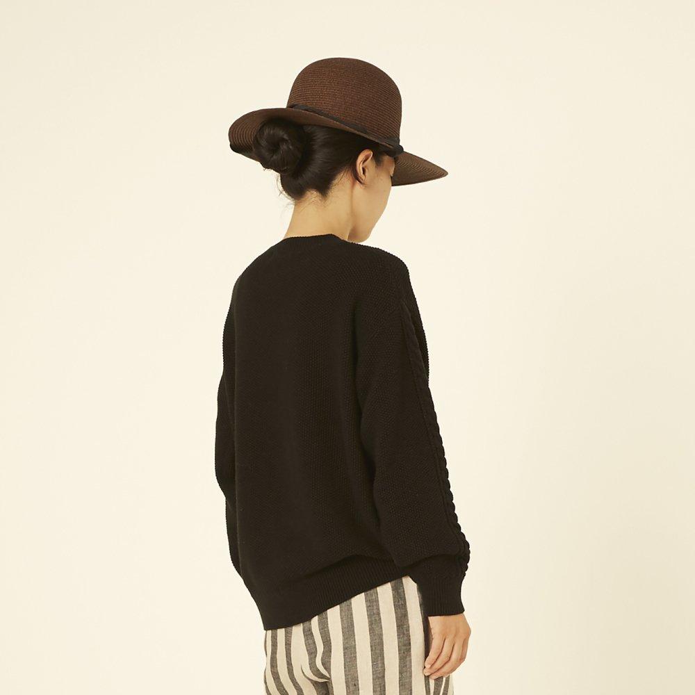 【再追加販売】moss stitch sweater black - adult img4