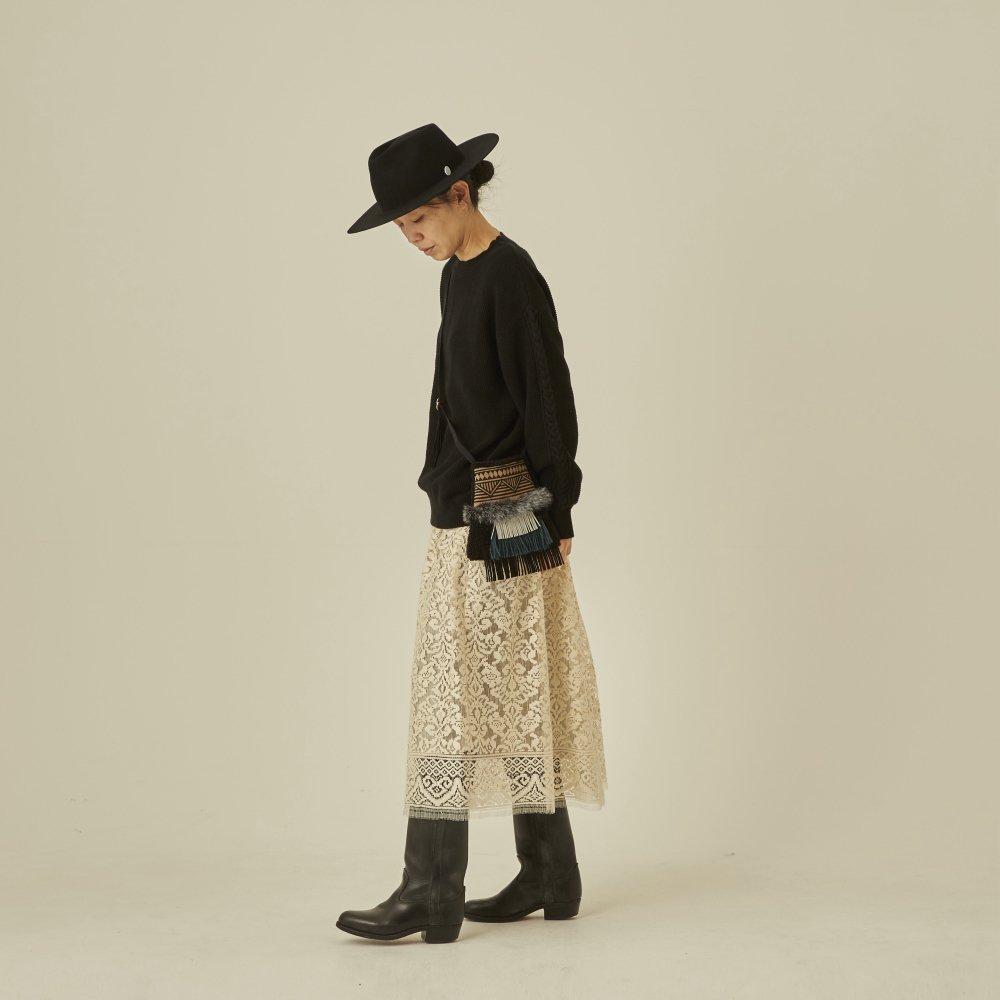 【再追加販売】moss stitch sweater black - adult img5