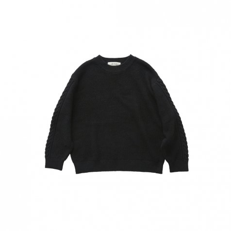 【最終販売】moss stitch sweater black - adult