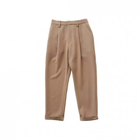 【8月入荷予定】tuck pants beige - adult