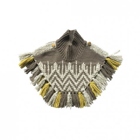 【8月入荷予定】cuccu別注 Nordic knit mantle brown