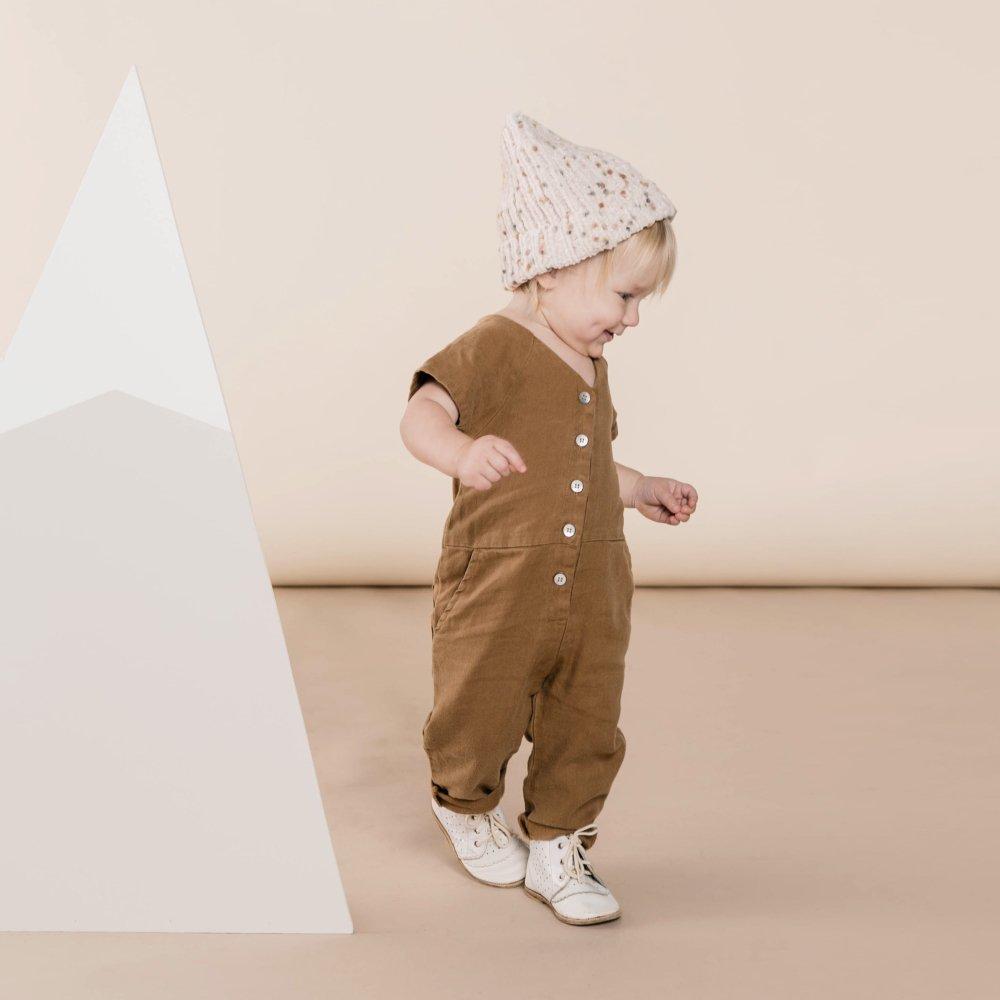 utility jumpsuit caramel img4
