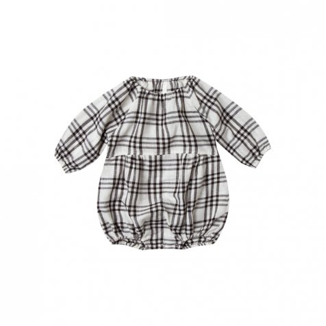 【40%OFF】check bubble romper