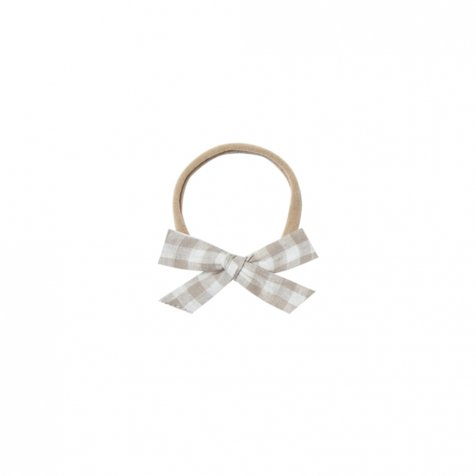 【30%OFF】bow w. headband gingham