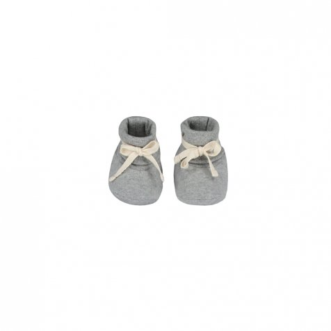 Baby Ribbed Booties Grey Melange