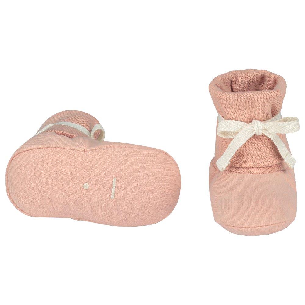 Baby Ribbed Booties Vintage Pink img1