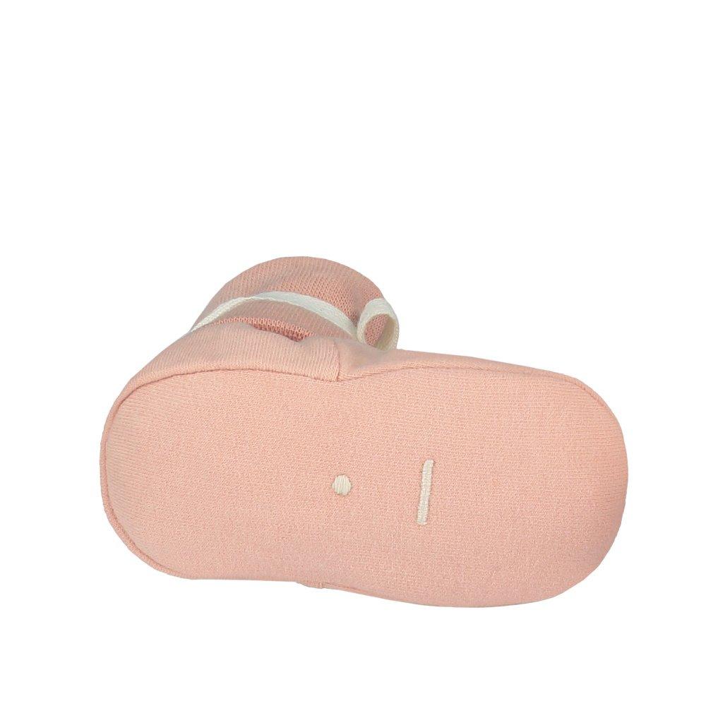 Baby Ribbed Booties Vintage Pink img2
