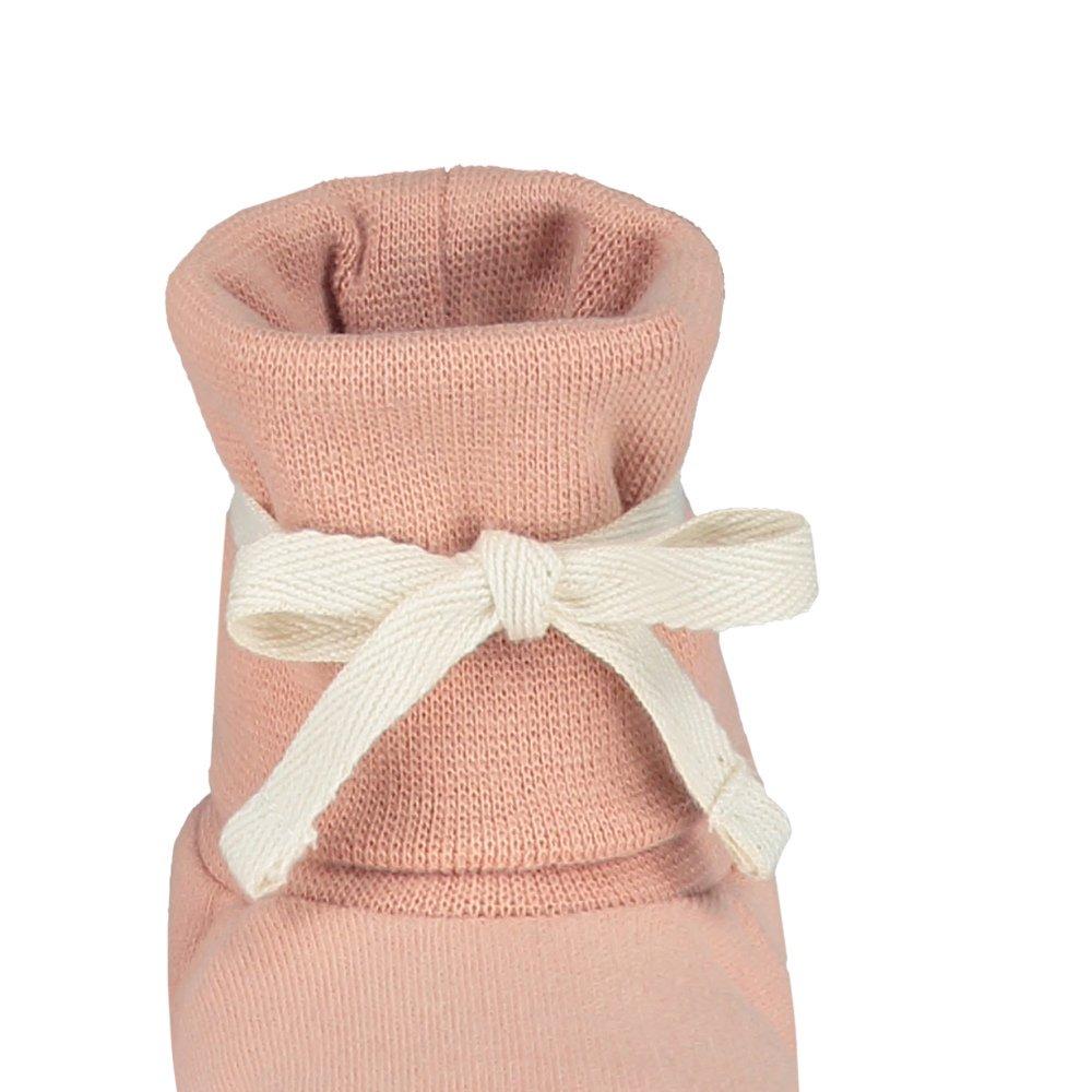 Baby Ribbed Booties Vintage Pink img3