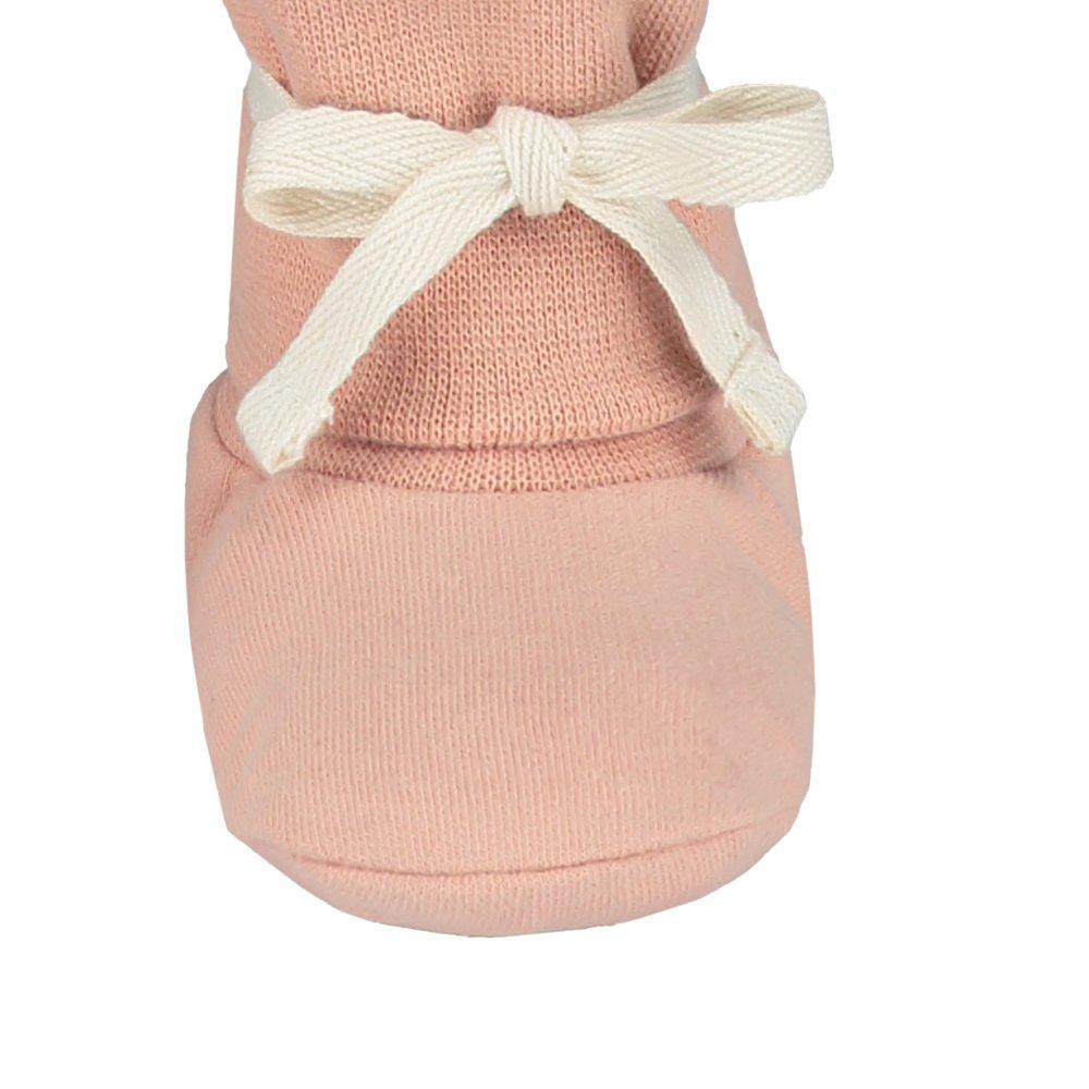 Baby Ribbed Booties Vintage Pink img4