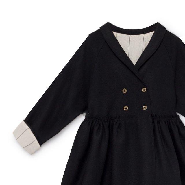 【8月末入荷予定】Tailored Coat black img3