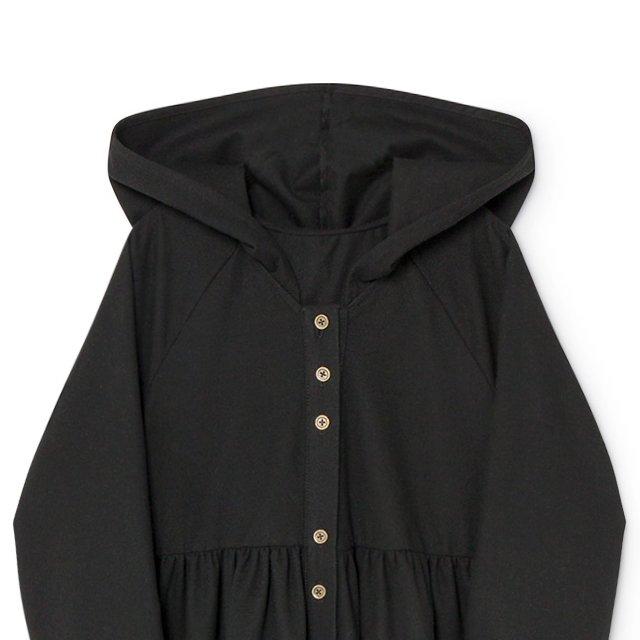 【8月末入荷予定】Smart Hooded Dress black img3