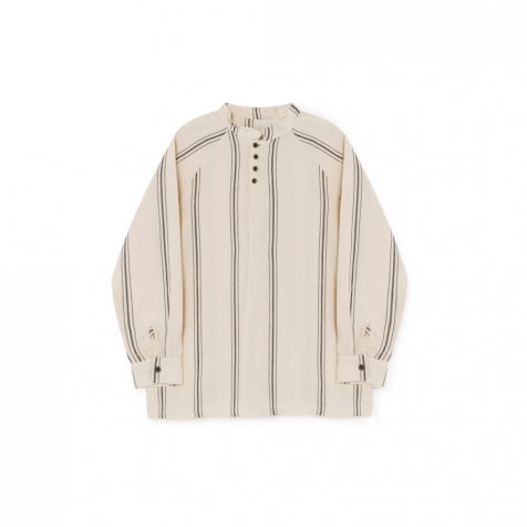 【8月末入荷予定】Striped Blouse Cream
