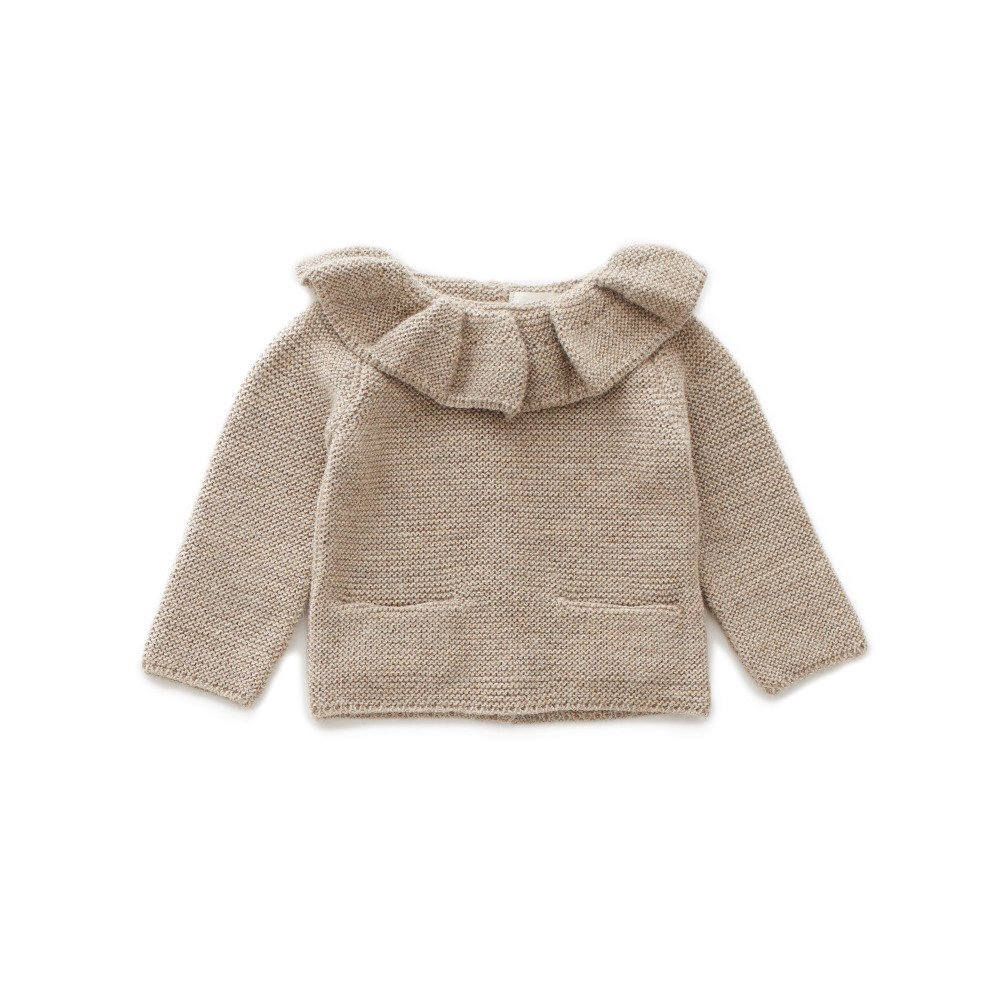 ruffle neck sweater grey img