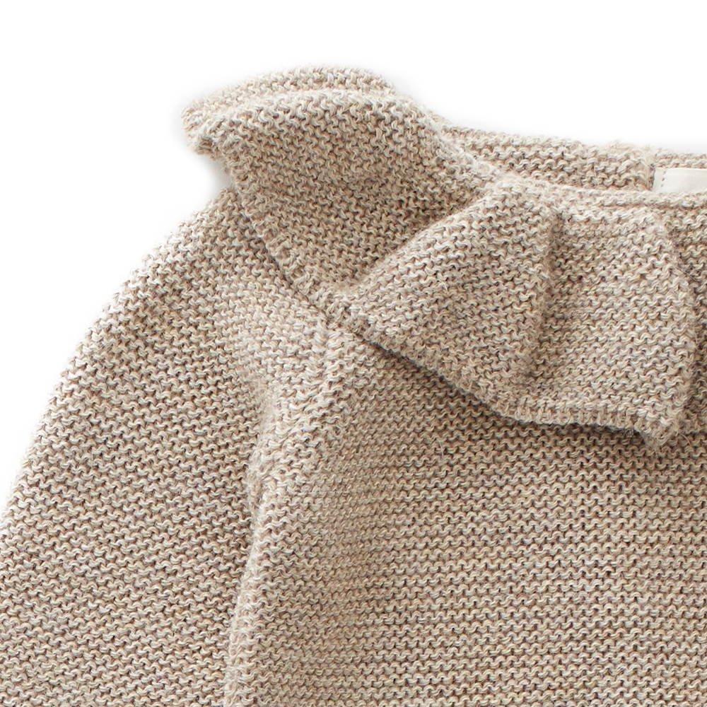 ruffle neck sweater grey img1