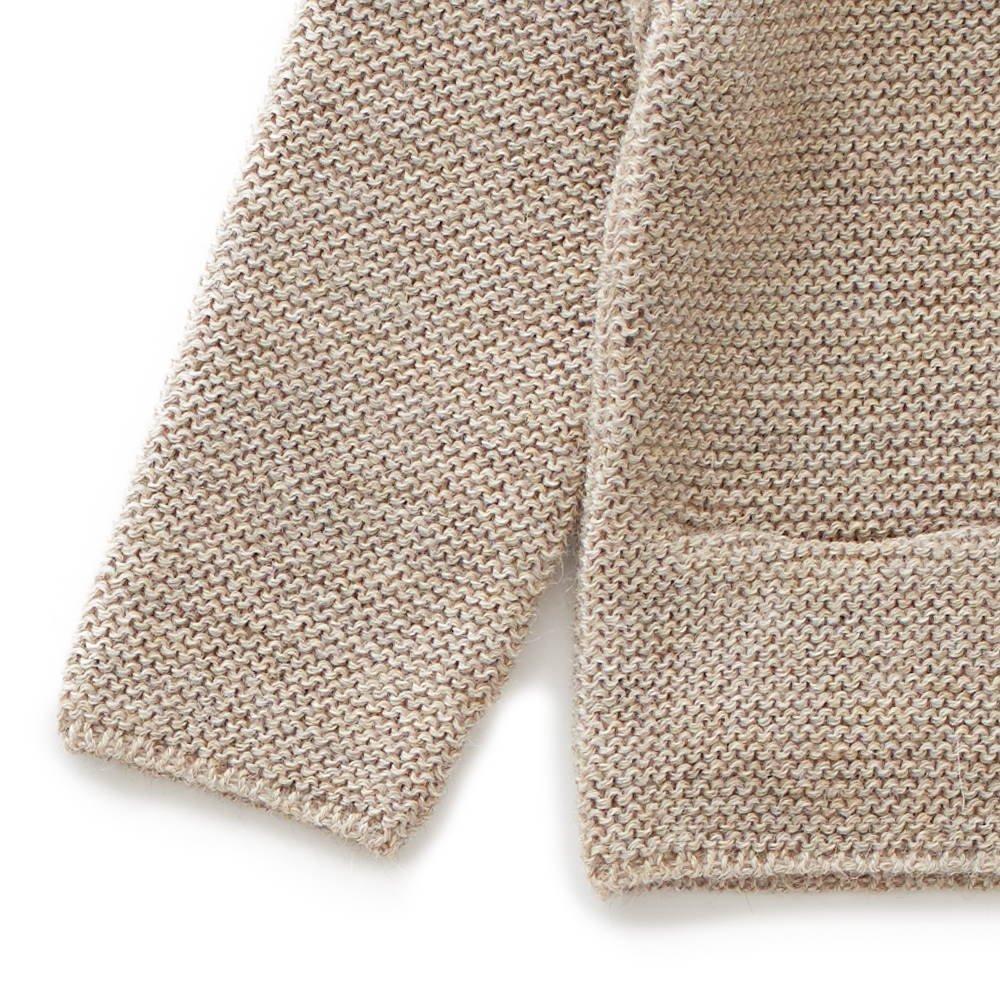 ruffle neck sweater grey img2
