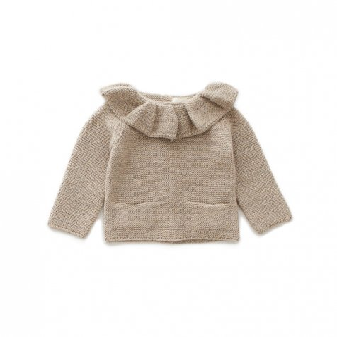 ruffle neck sweater grey