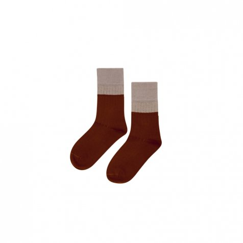 【20%OFF】Socks Taupe/ Bitter Chocolate