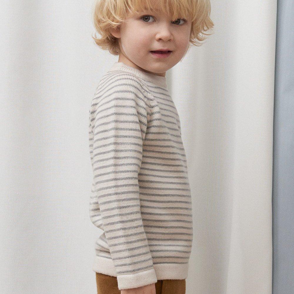 【30%OFF】1919 AW Sweater ECRU / LIGHT GREY img