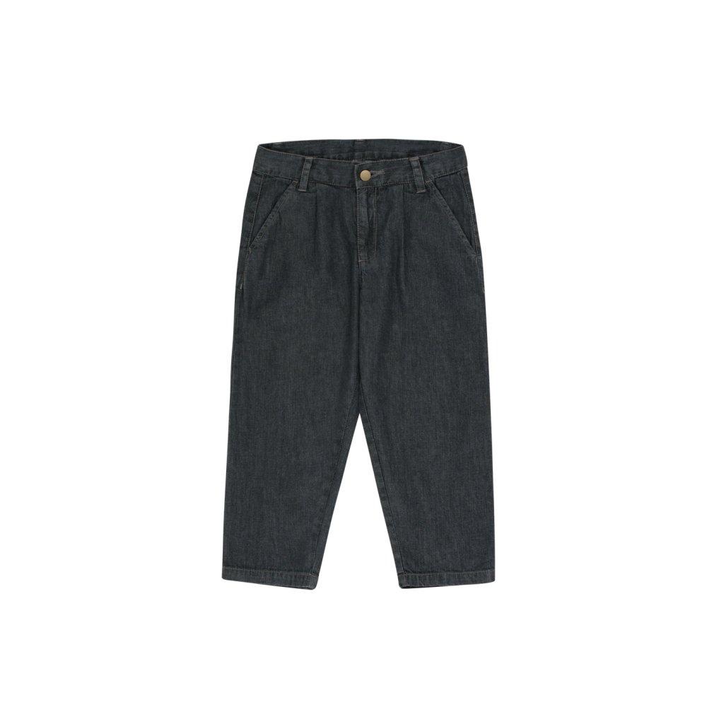 【30%OFF】DENIM PLEATED PANT black img