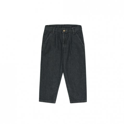 【30%OFF】DENIM PLEATED PANT black