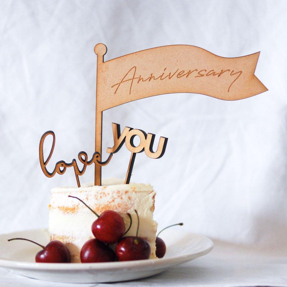 ケーキトッパー anniversary set img2