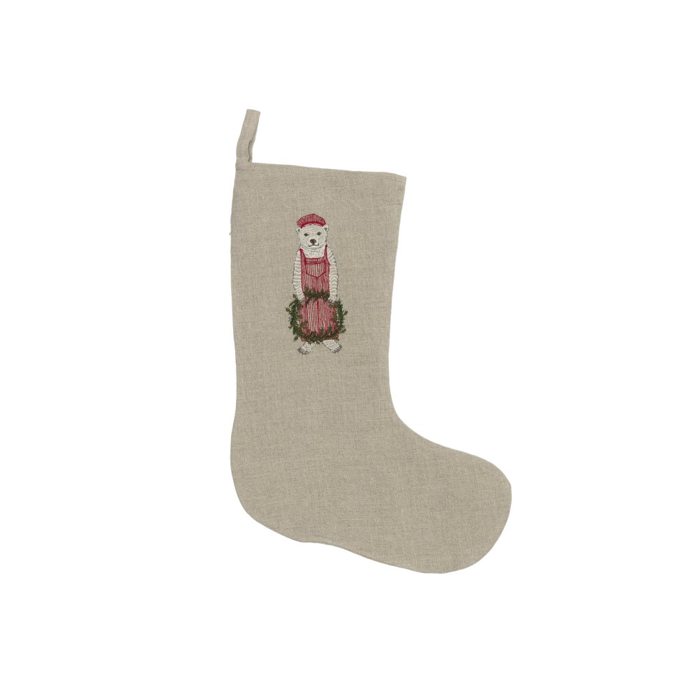 Train Conductor Bear Small Stocking img