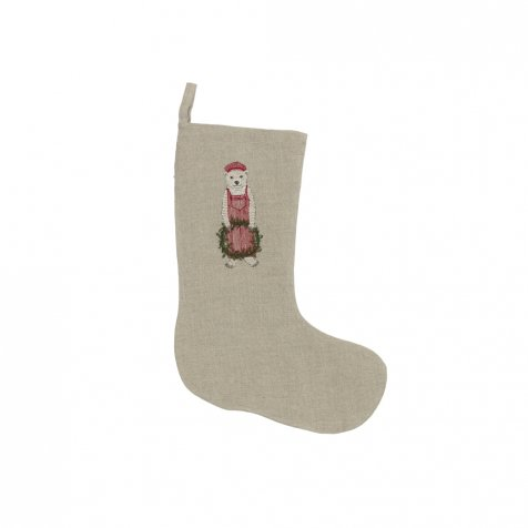 Train Conductor Bear Small Stocking