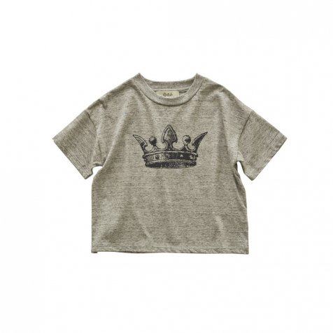【2月末発送予定】crown T-shirt top gray