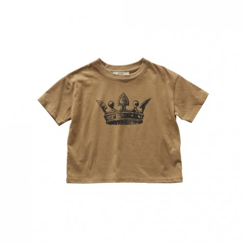 【2月末発送予定】crown T-shirt camel