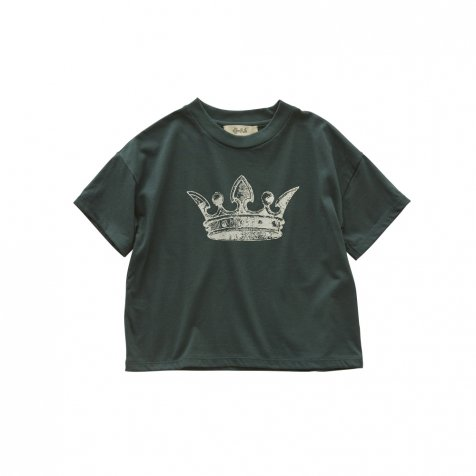 【2月末発送予定】crown T-shirt dark green